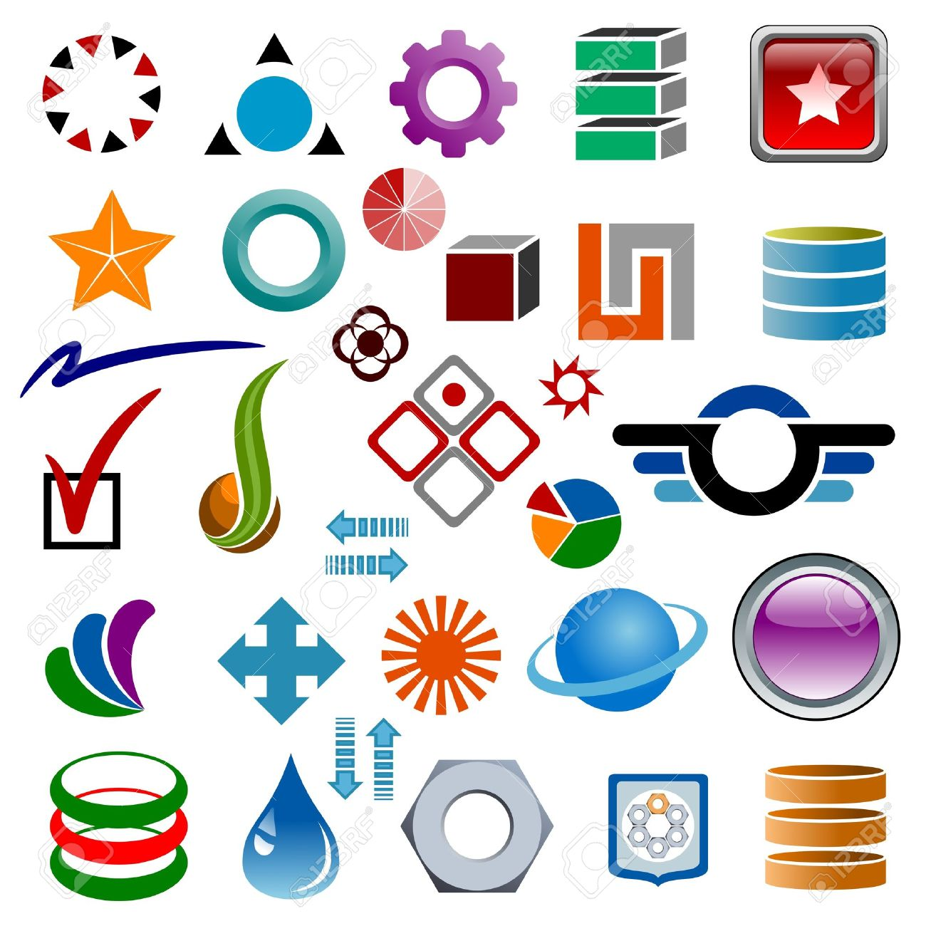 Logo design elements. Graphic design elements. Illustration. Stock Vector - 12394624