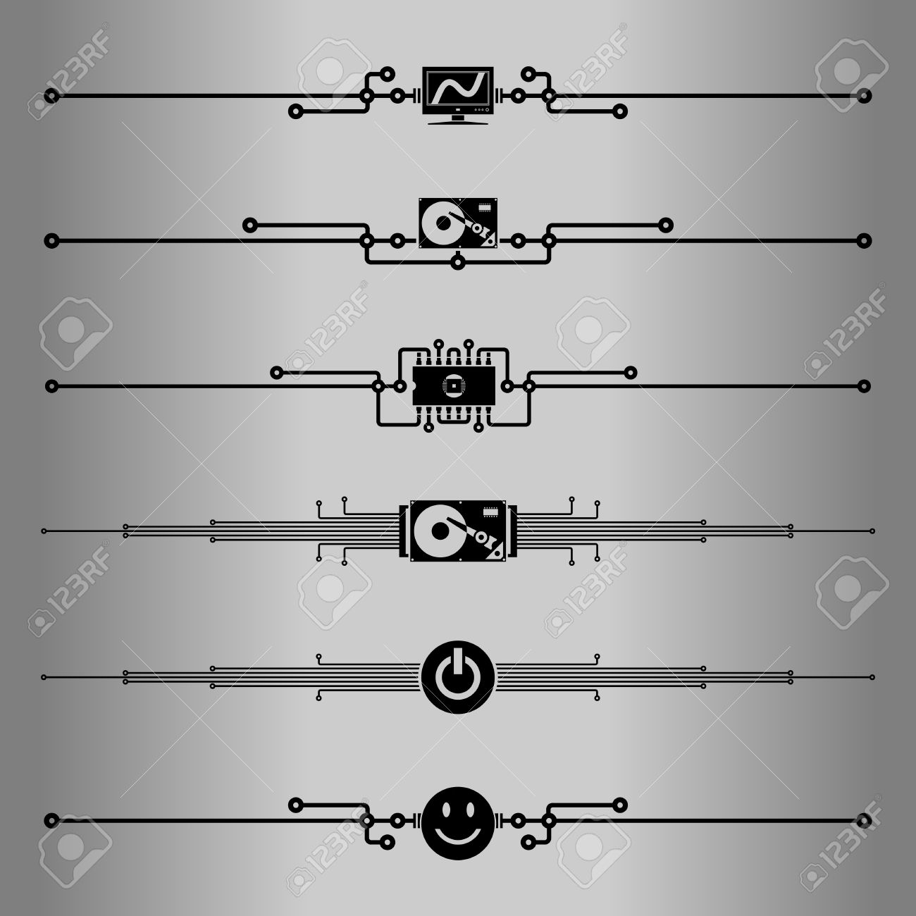 Circuit Board Vector Line Everything About Wiring Diagram Background Royalty Free Stock Image 24974606 Images Gallery
