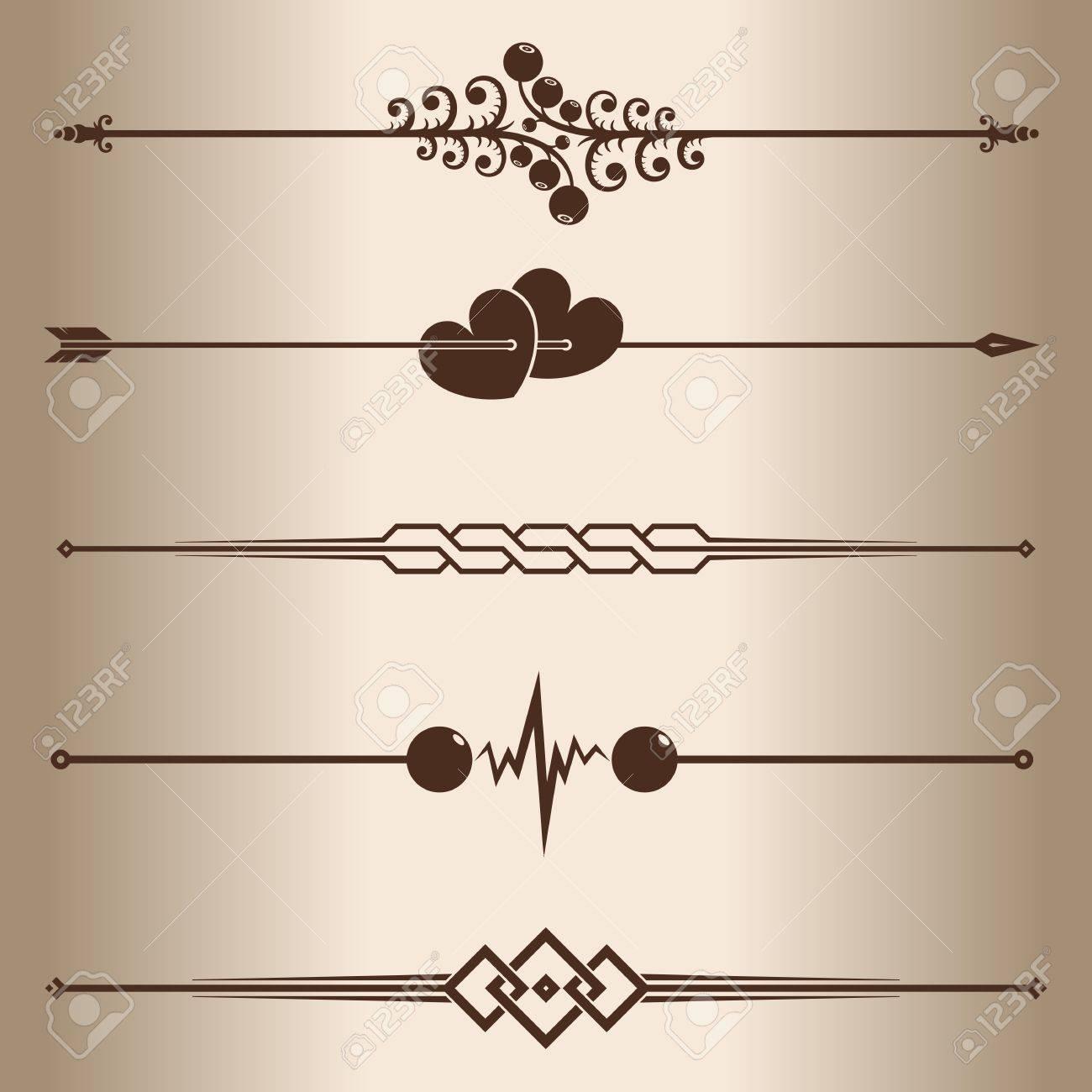 decorative lines elements for design decorative line dividers