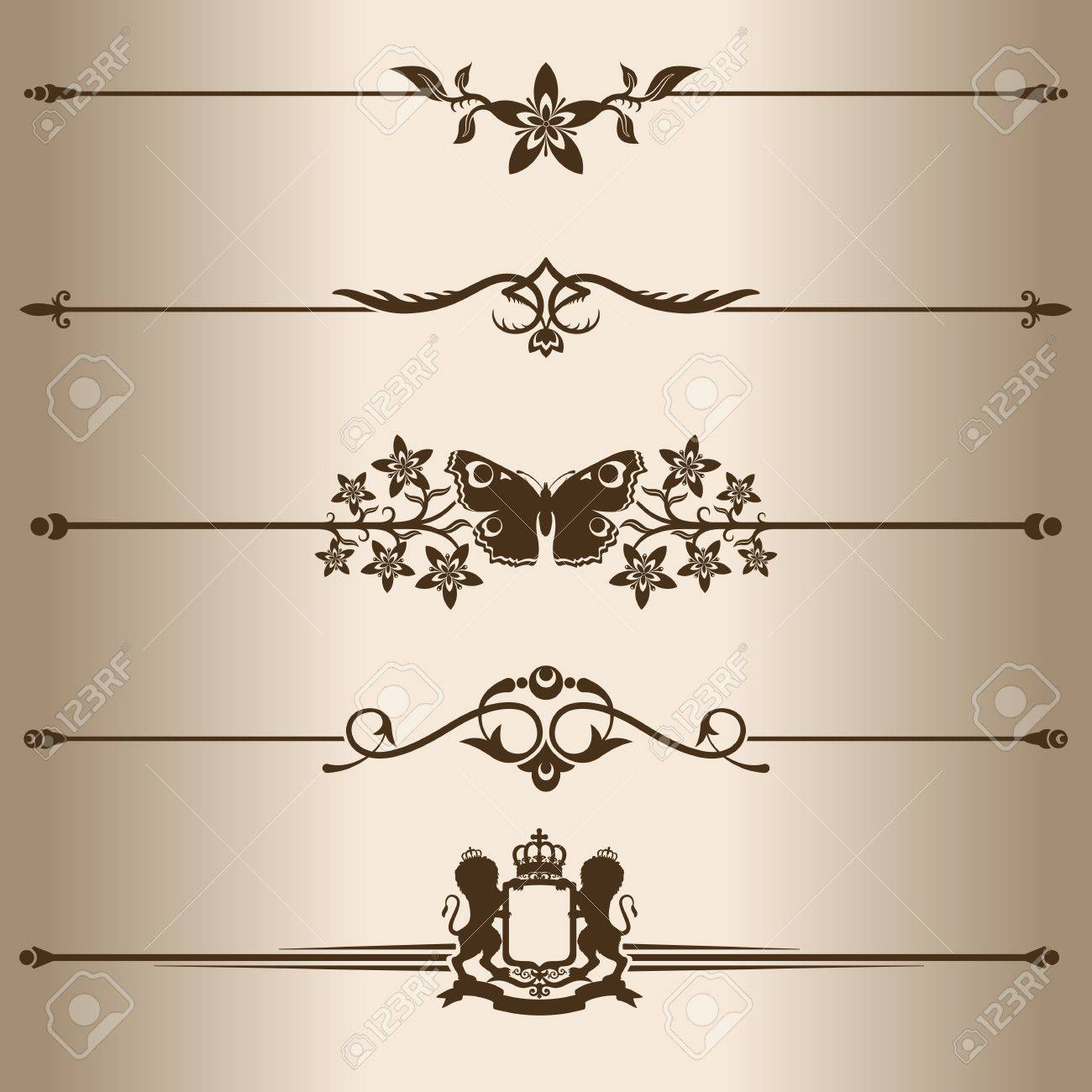 Decorative lines  Elements for design - decorative line dividers  Vector illustration Stock Vector - 16510551