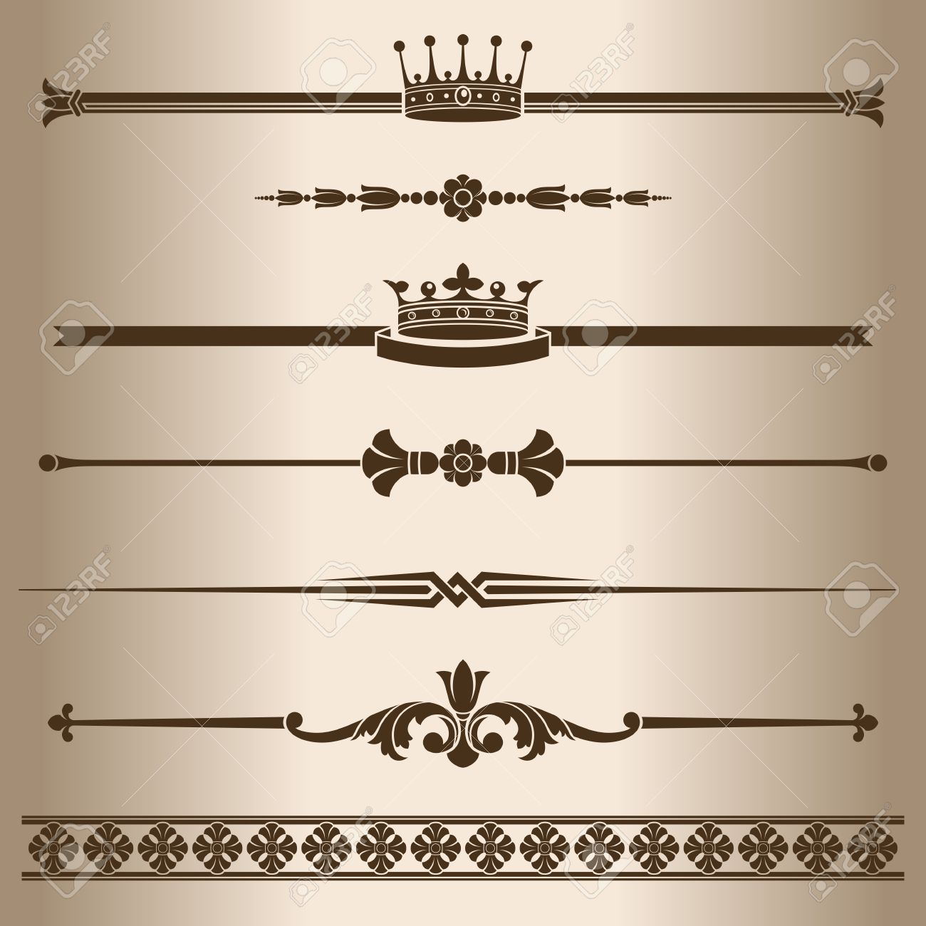 Decorative lines elements for design decorative line dividers decorative lines elements for design decorative line dividers vector illustration stock vector altavistaventures Choice Image
