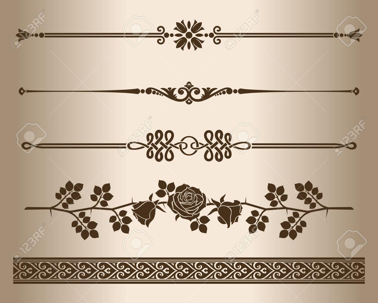 decorative lines design elements decorative line dividers