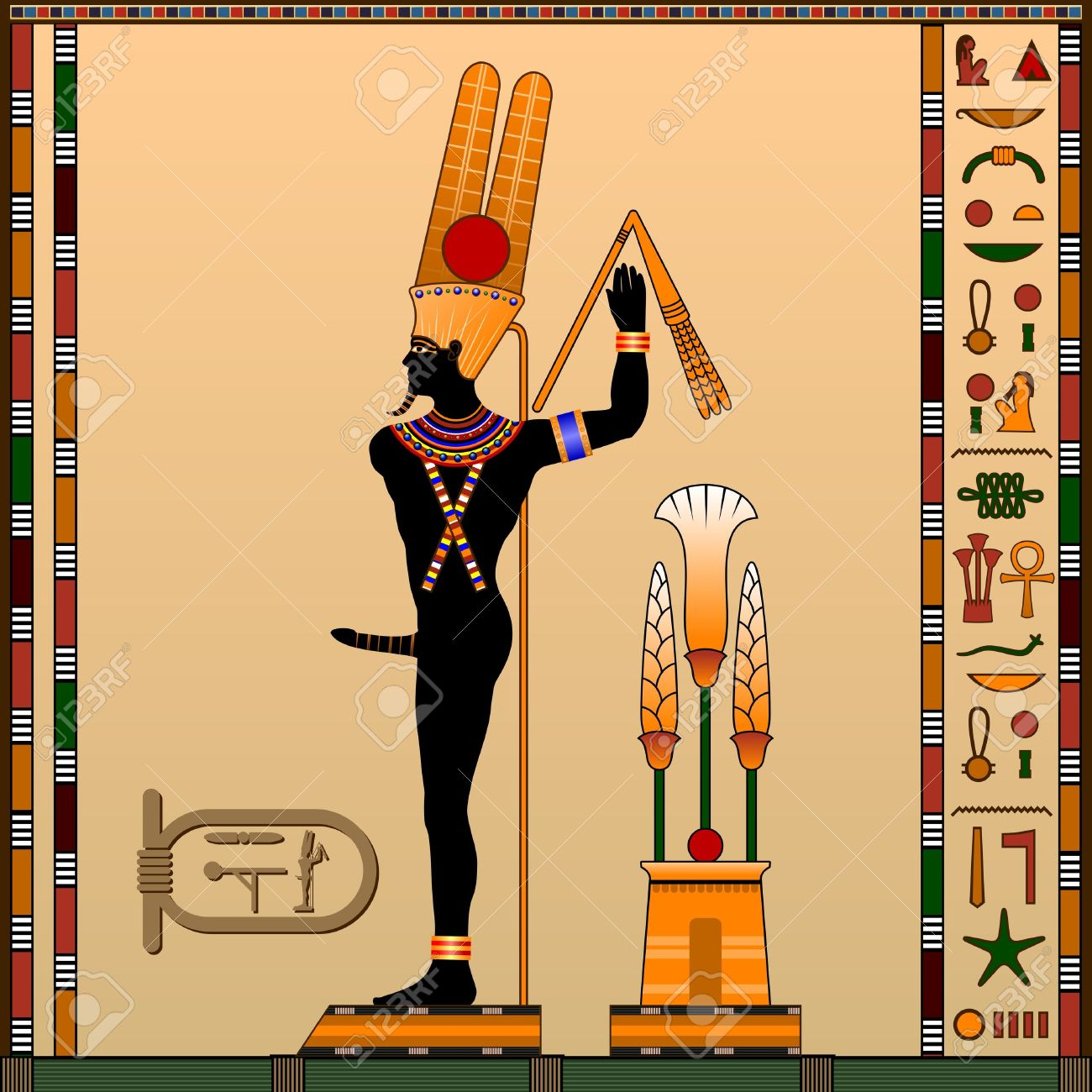 Religion Of Ancient Egypt Min Is The God Of Fertility Trade - Egypt religion