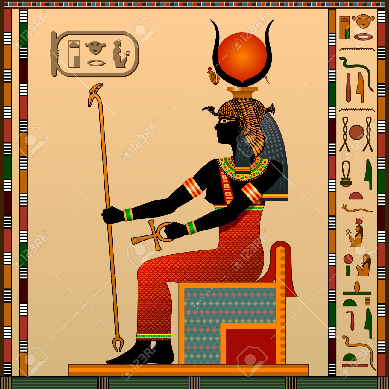 Religion of Ancient Egypt. Hathor is the goddess of love, heaven,..