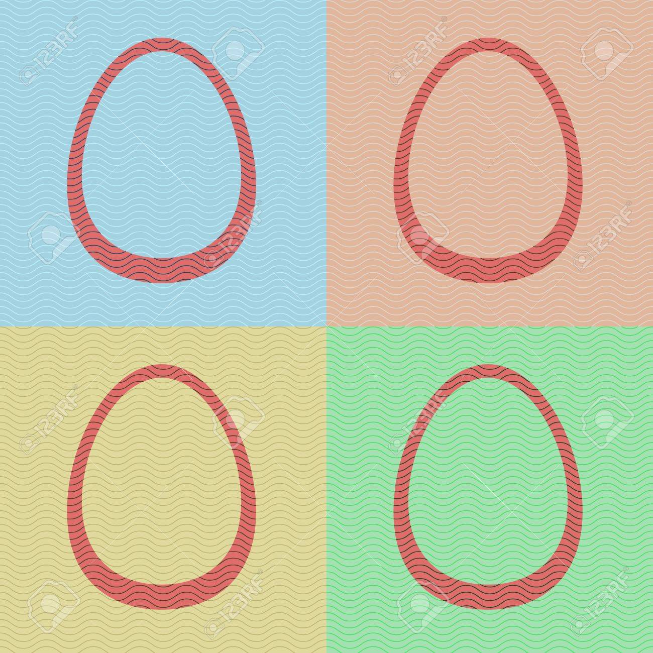 Four striped eggs in light colors, seamless pattern Stock Vector - 18254489