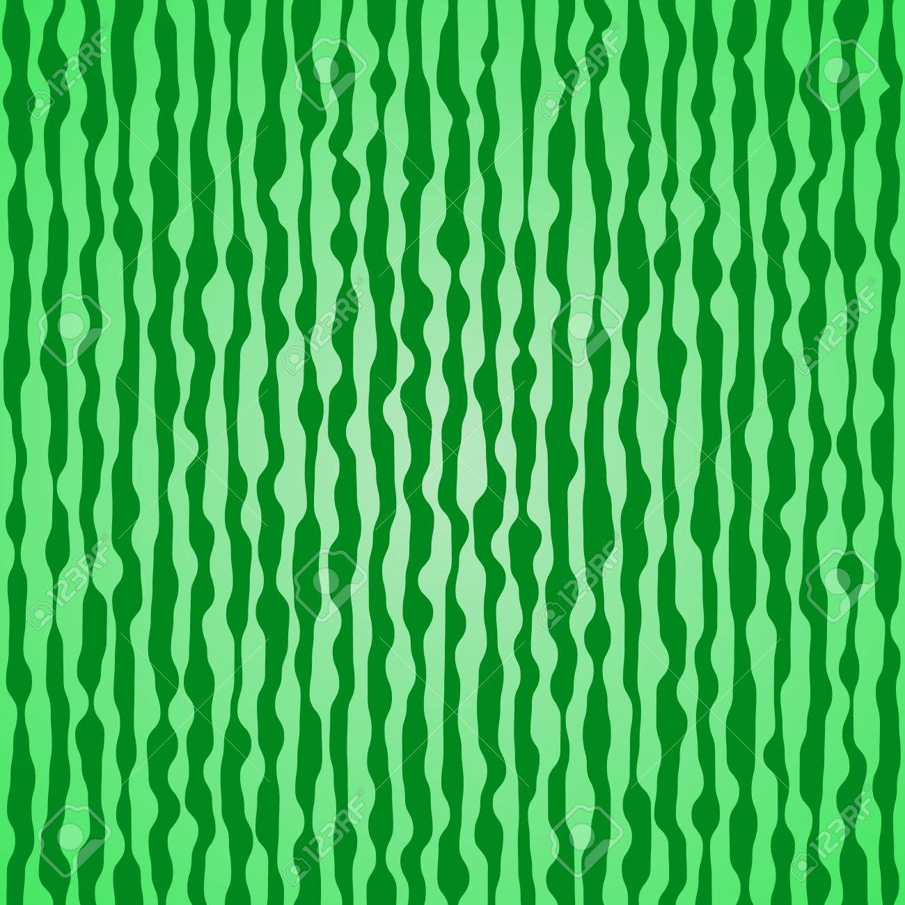 Abstract liquid wavy stripes in green colors, seamless pattern Stock Vector - 19215220