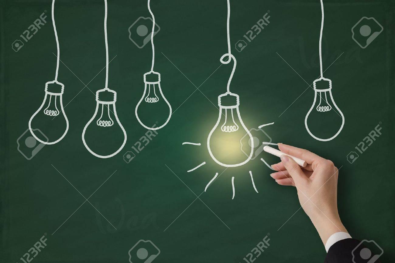 Idea concept on a chalkboard Stock Photo - 17799742