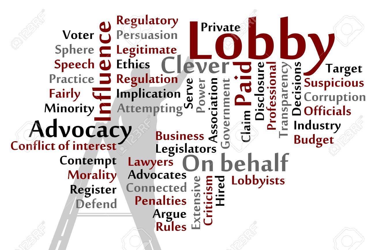 Lobby words cloud illustration Stock Vector - 18075548