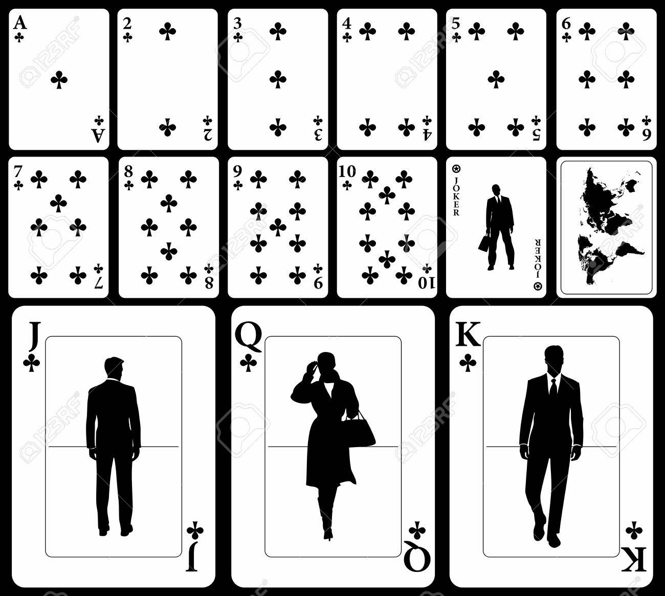 Vector Business Playing Cards (you Can Find The Hearts, Diamonds ...
