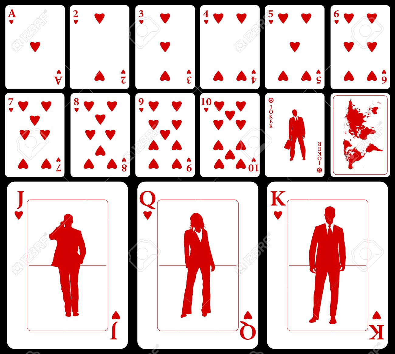 Vector Business Playing Cards (you Can Find The Clubs, Diamonds ...