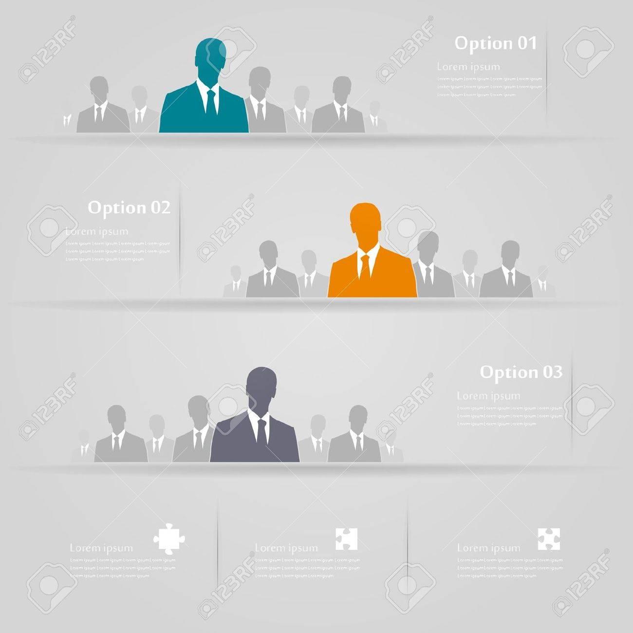 Three groups infographics illustration Stock Vector - 21041700