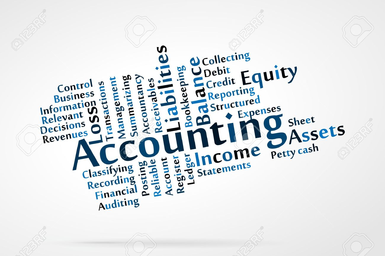 Accounting Word Cloud With Data Sheet Background Royalty Free ...