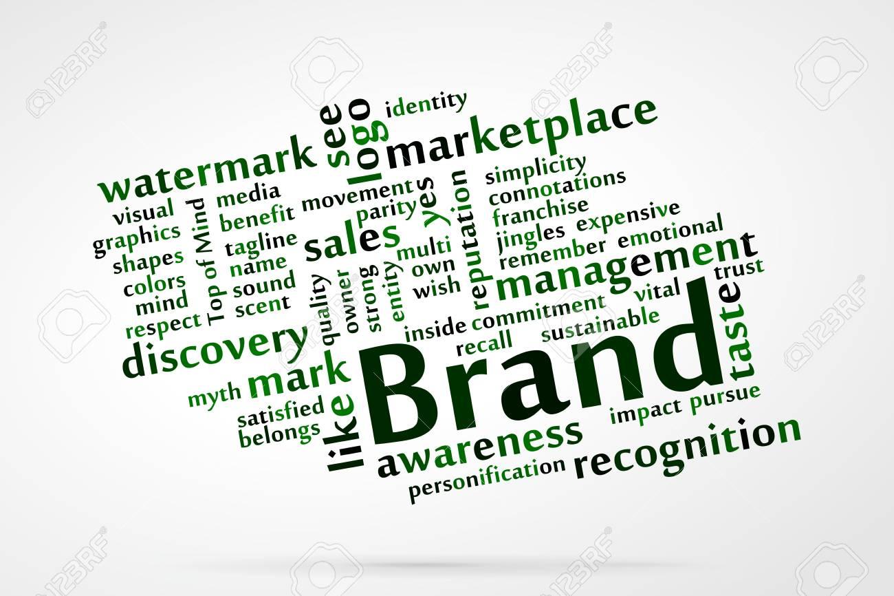 Brand word cloud Stock Vector - 21176631