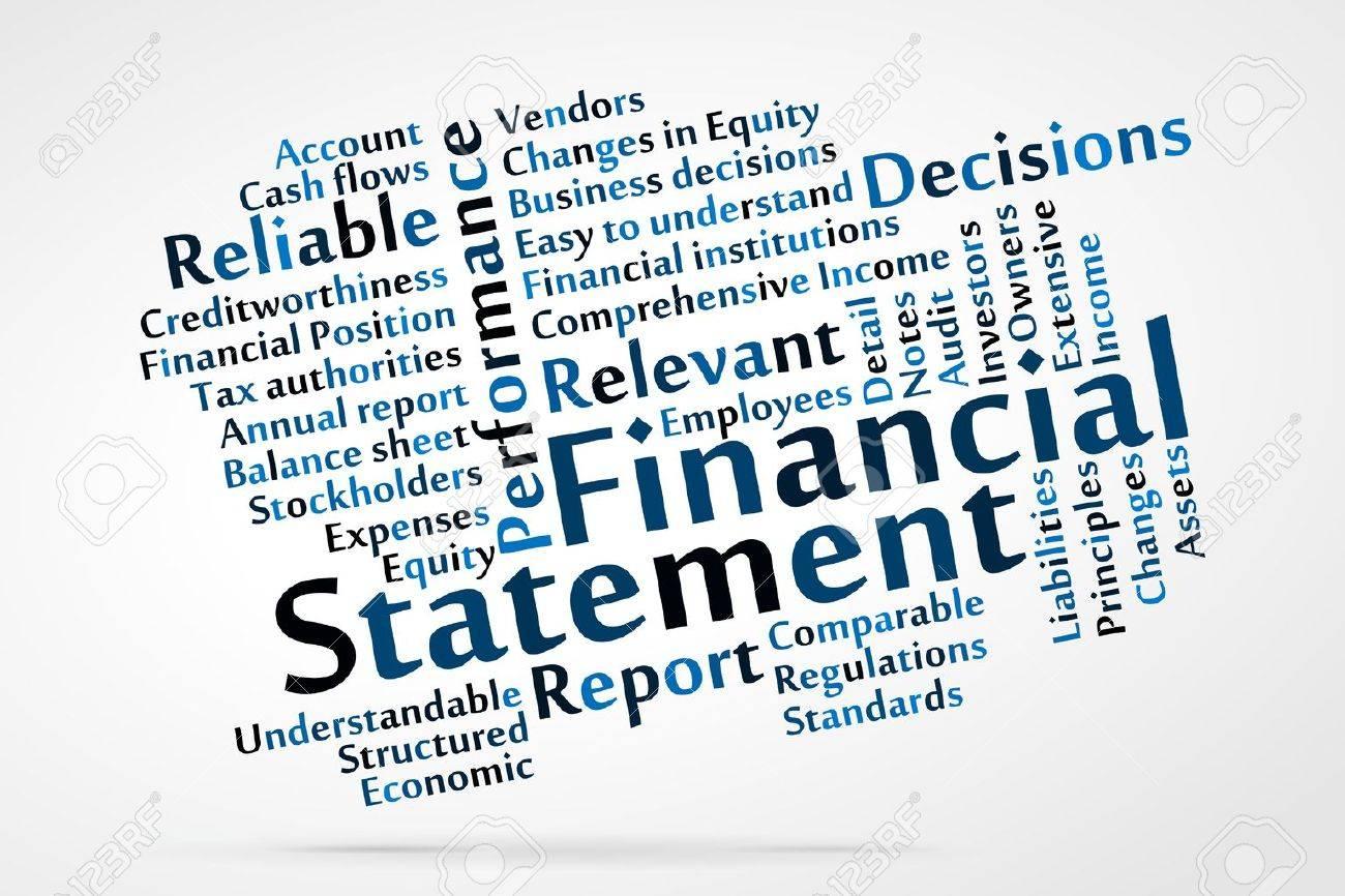 Financial Statement word cloud Stock Vector - 21176661