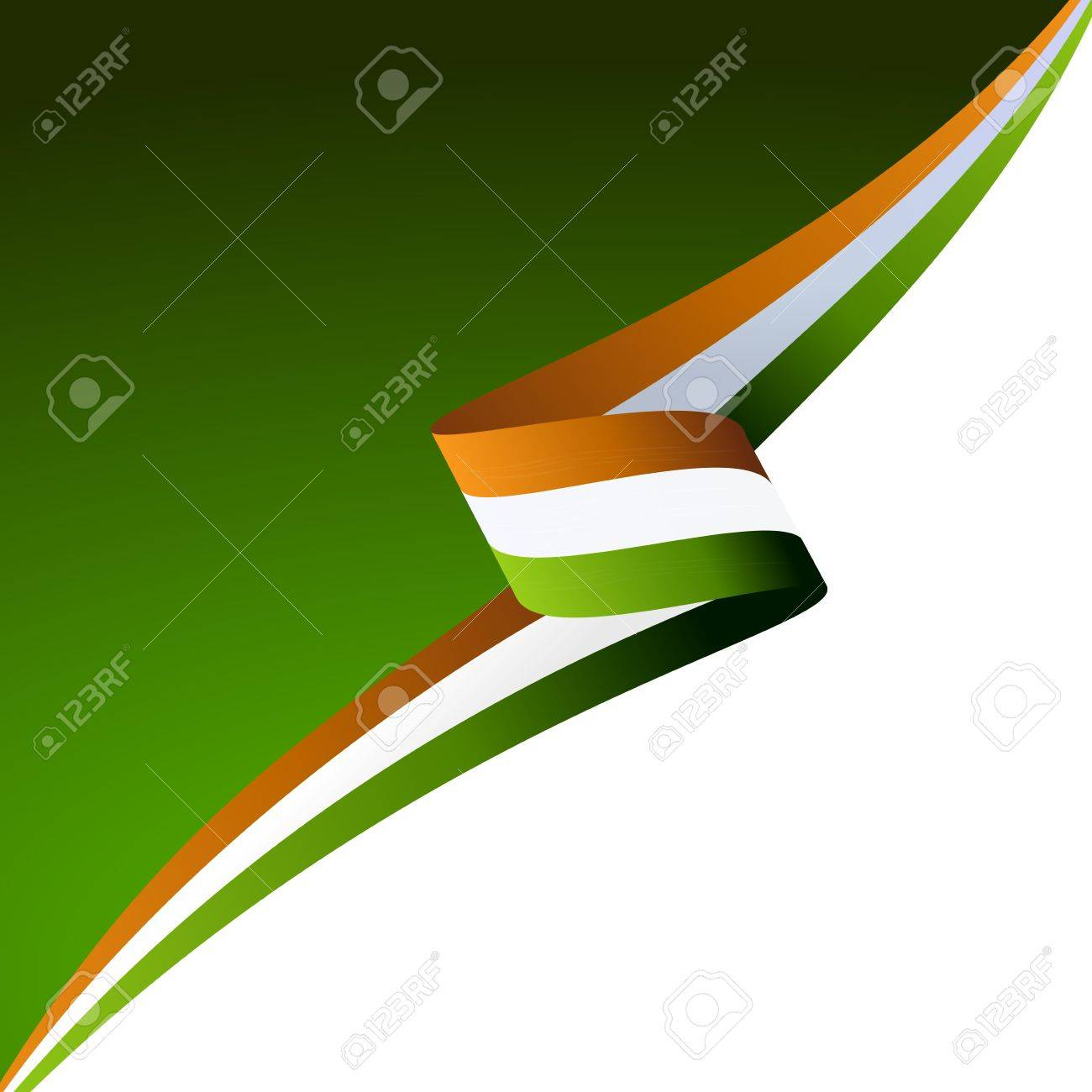 abstract color background irish flag royalty free cliparts