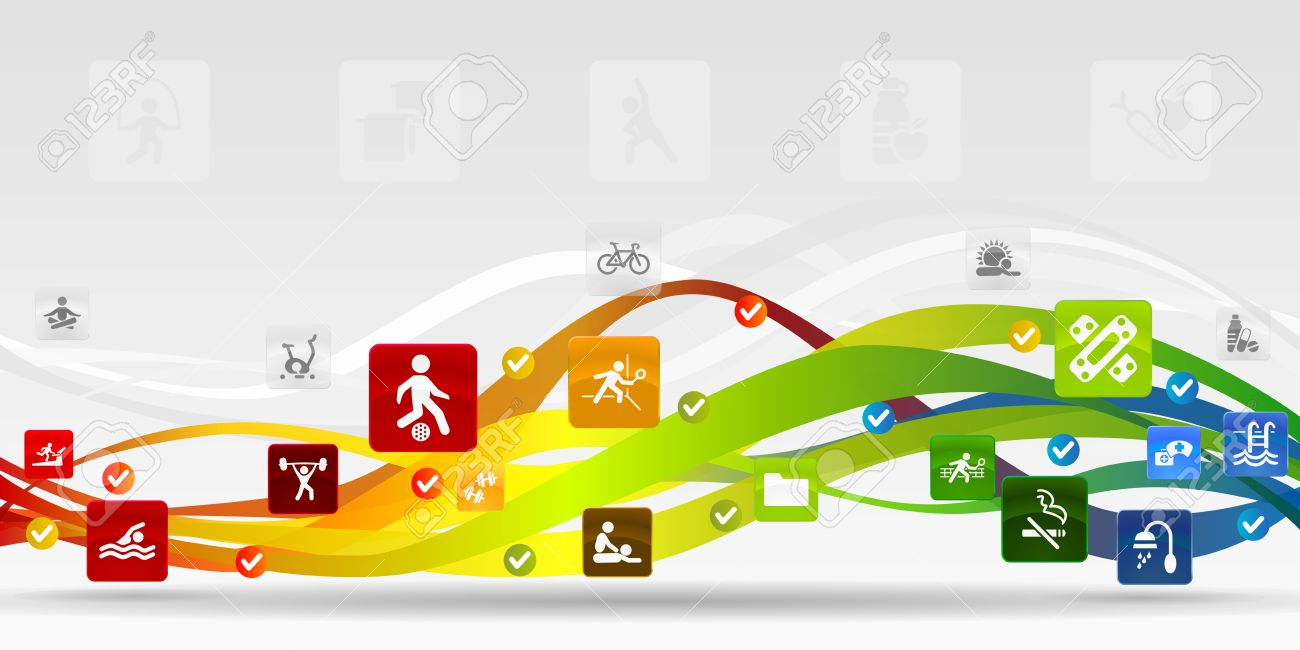 Health mobile applications abstract background Stock Vector - 21635339
