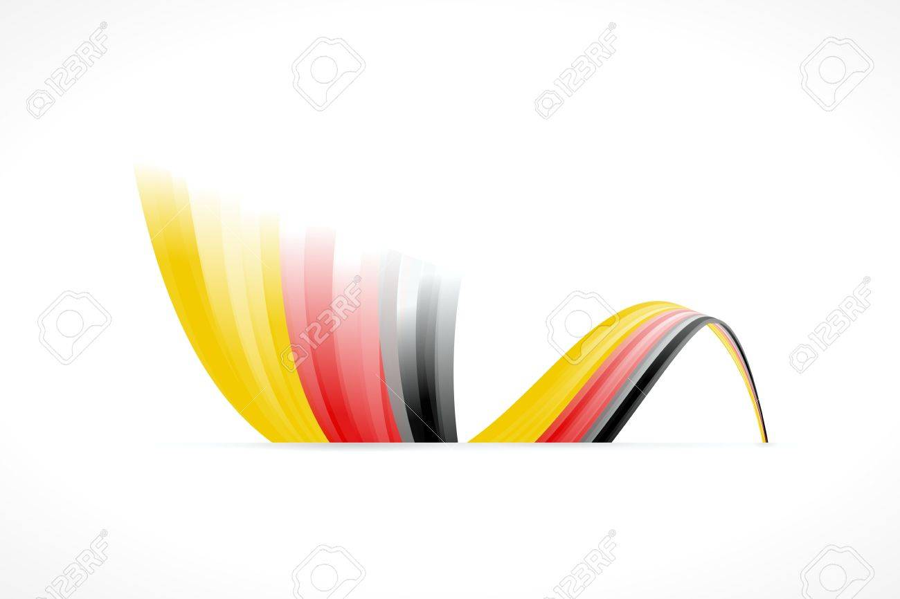Abstract German waving flag isolated on white background Stock Vector - 21897184