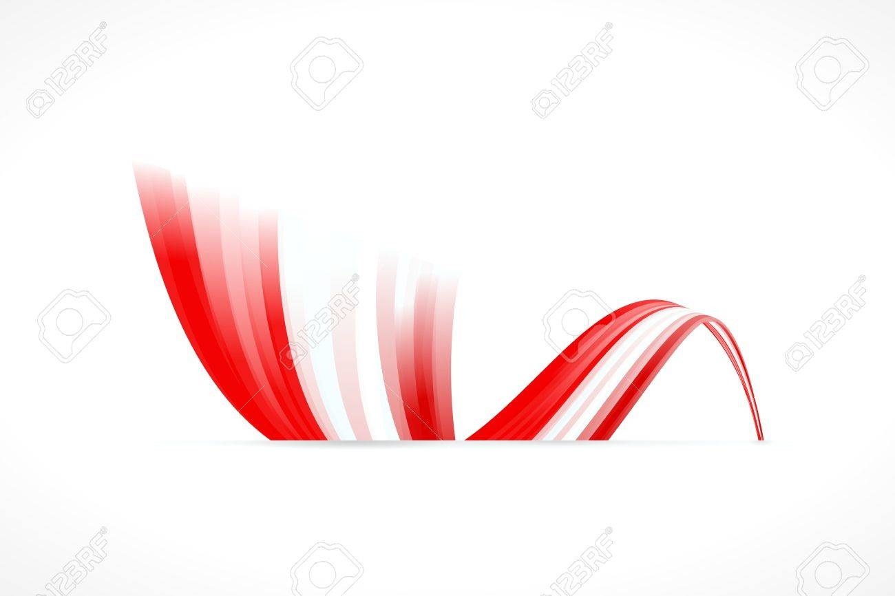 Abstract Danish waving flag isolated on white background Stock Vector - 21897437
