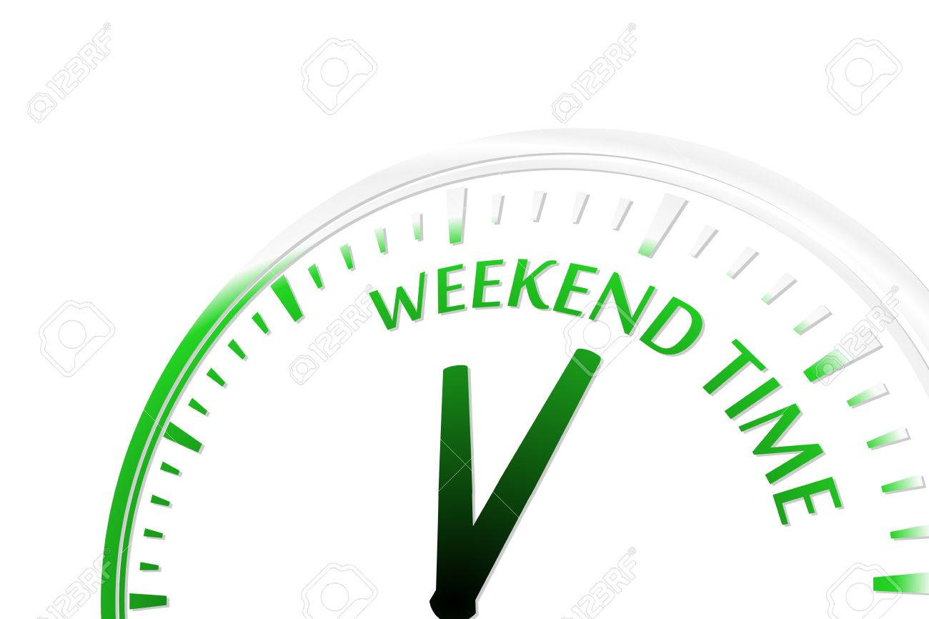 Weekend time clock vector illustration Stock Vector - 22203560