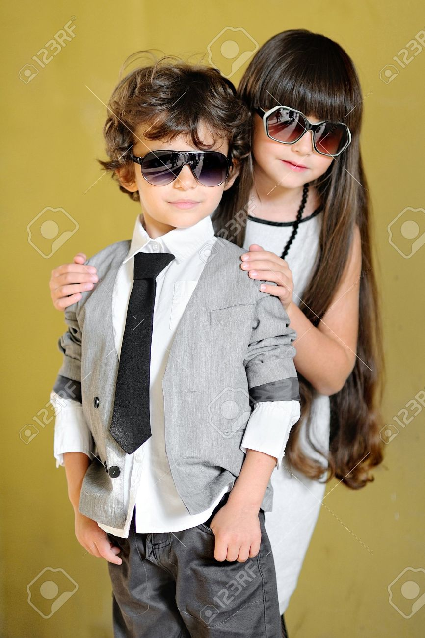 Baby stylish boy with glasses photos