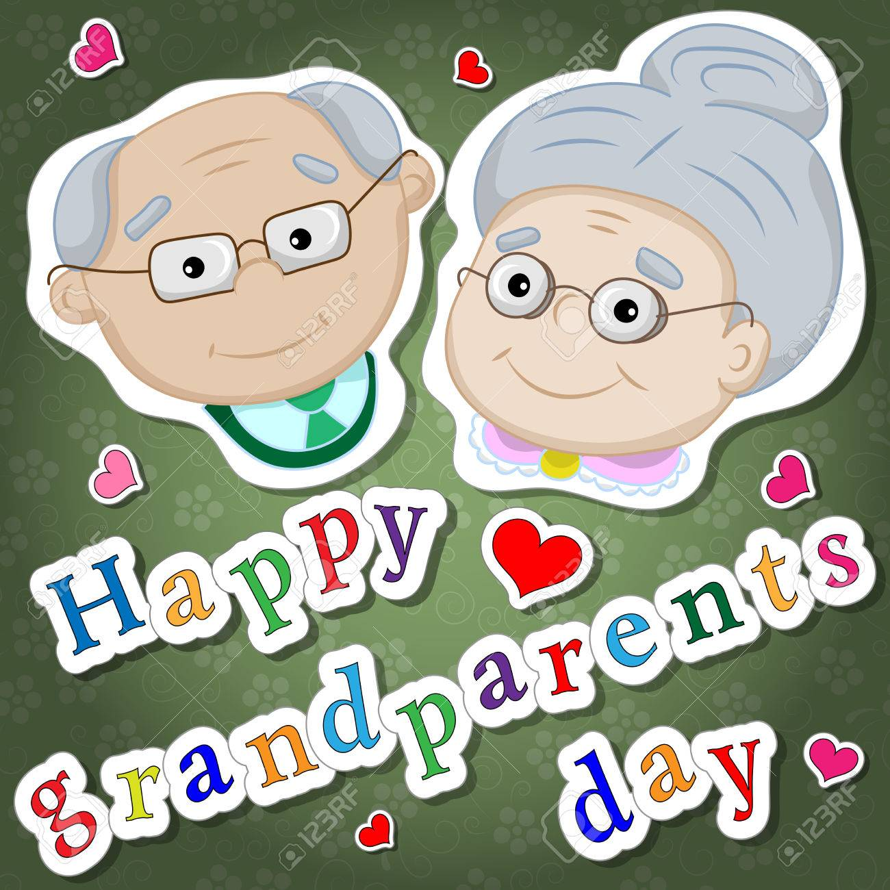 Greetings on grandparents day with the phrase and face of greetings on grandparents day with the phrase and face of grandparents stock vector 58467253 kristyandbryce Gallery