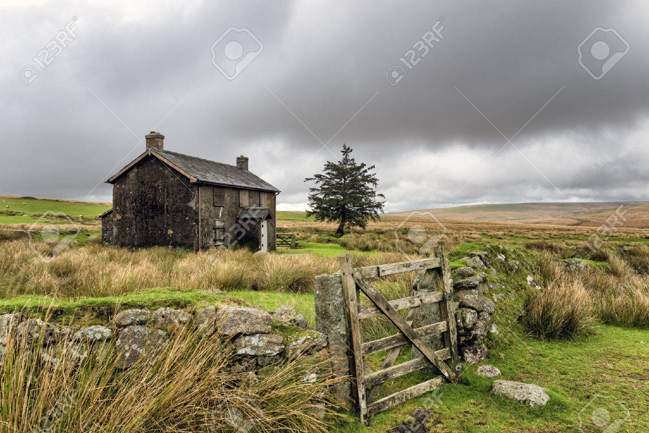 A derelict and abandoned farmhouse at Nun