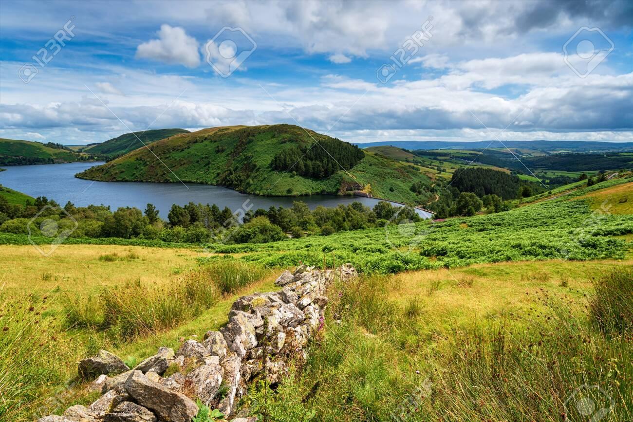 Summer at Llyn Clywedog reservoir near Llanidloes in Wales - 130412221