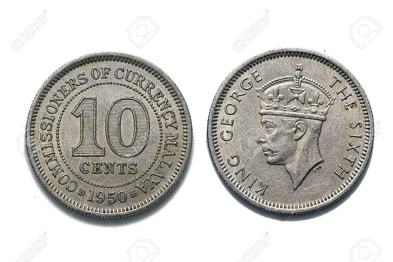 10 Cent Münze Malaya 1950 Lizenzfreie Fotos Bilder Und Stock