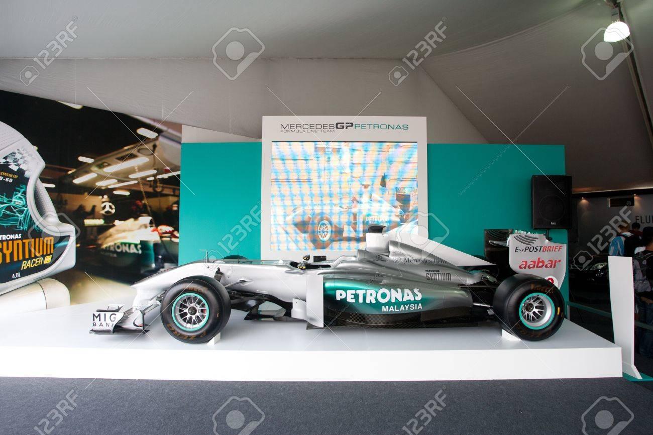 Sepang Malaysia April 8 A Mercedes Gp Petronas F1 Car Sits