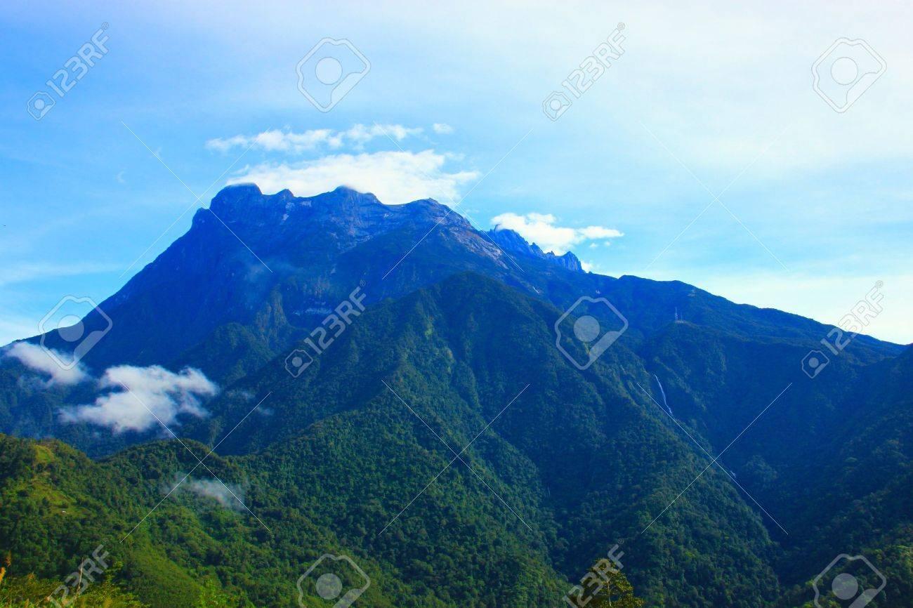 Landscape view of Mount Kinabalu, Kundasang, Sabah, Malaysia Stock Photo - 8971523