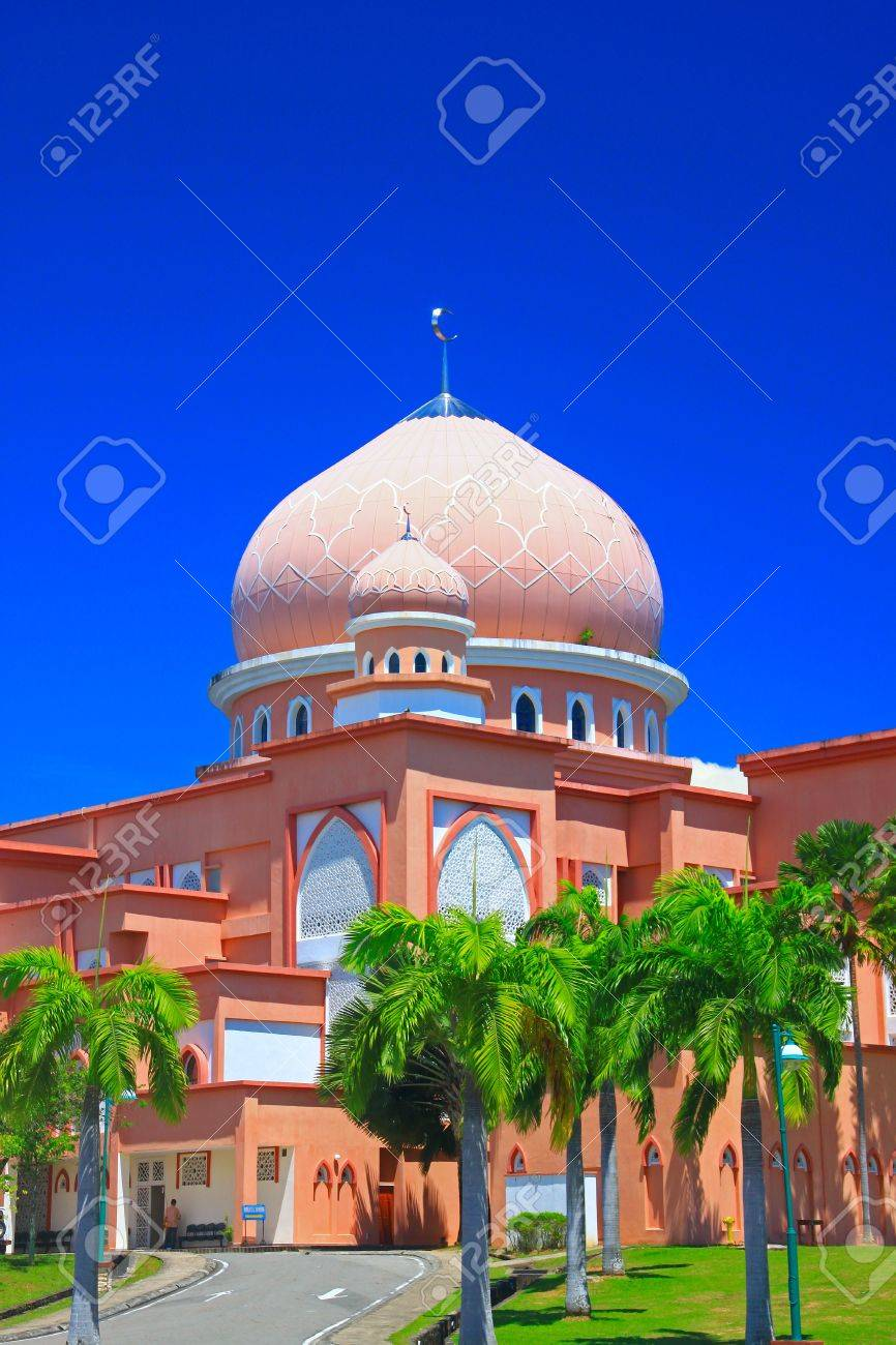 Architektur Der Universität Moschee Kota Kinabalu Sabah Malaysia