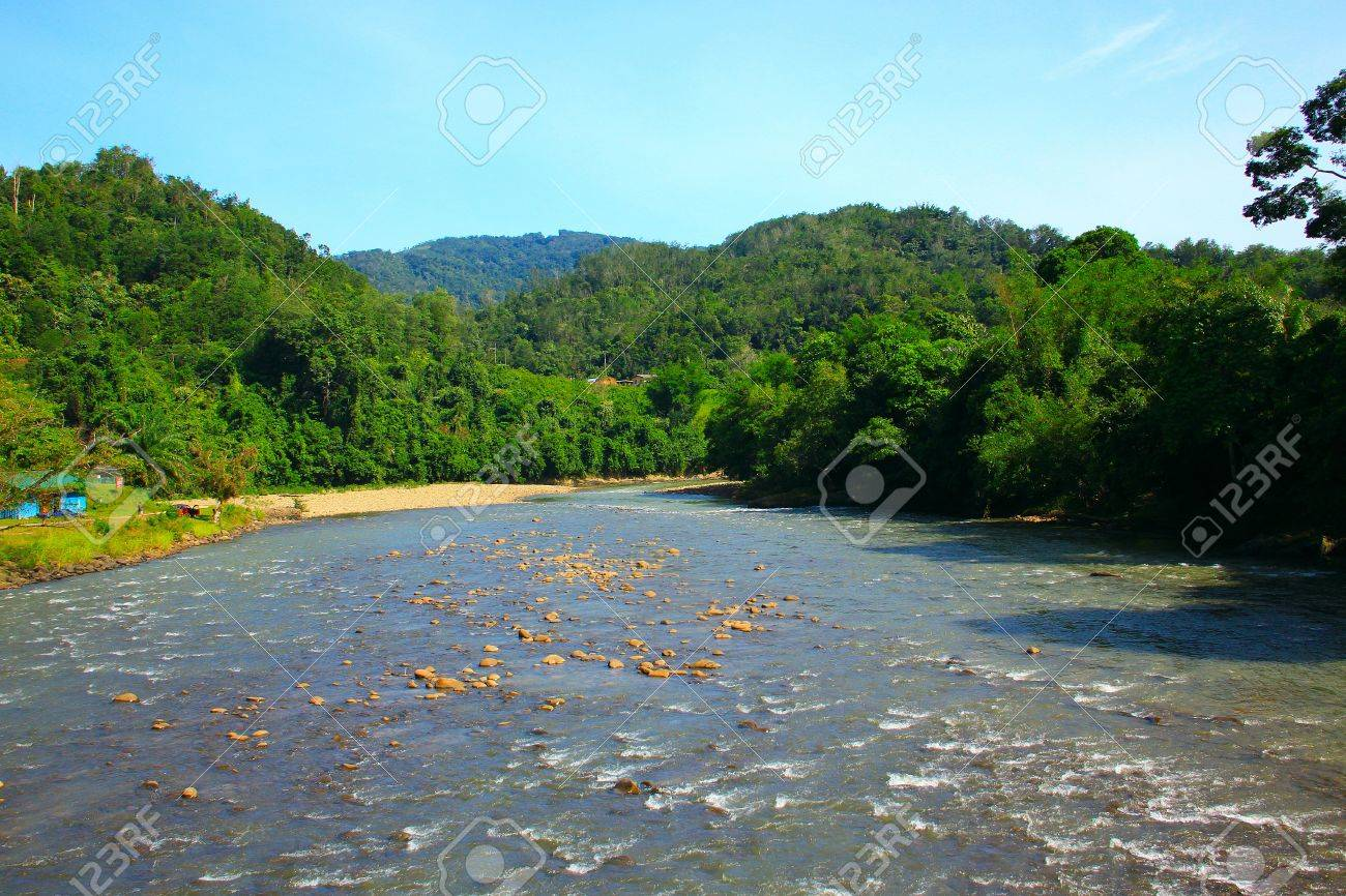 Beautiful landscape view at Kiulu, River, Tuaran, Sabah Stock Photo - 10689903