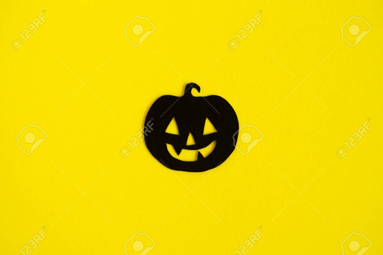 Holiday Decorations For Halloween Black Paper Pumpkin In The