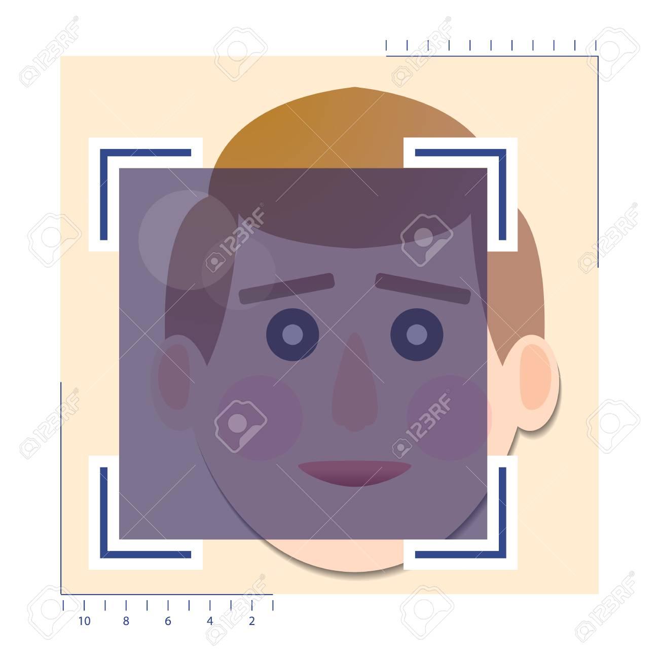 face detection biometrical identification ロイヤリティフリー
