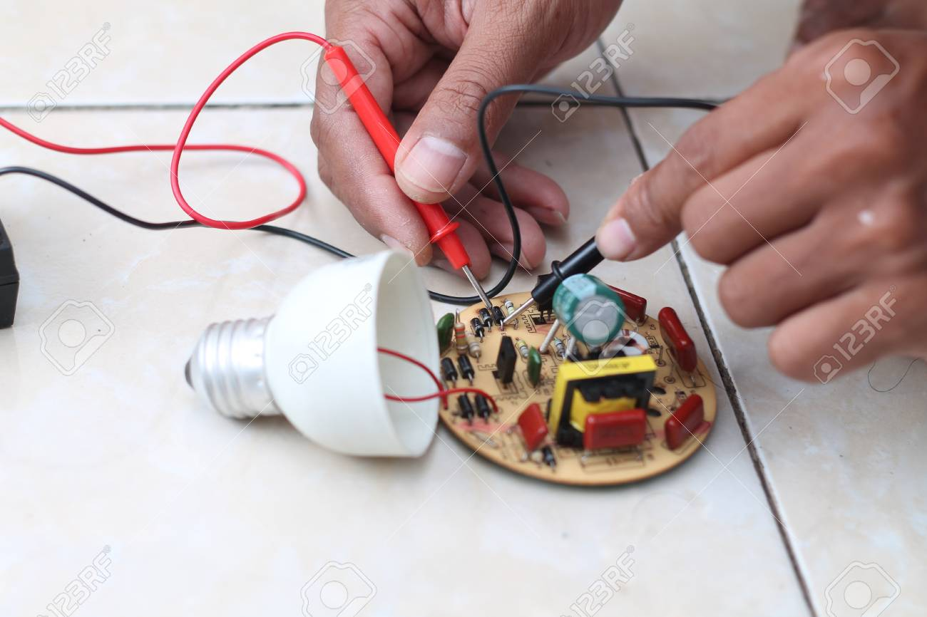 Repair Electrical Installation Stock Photo, Picture And Royalty Free ...
