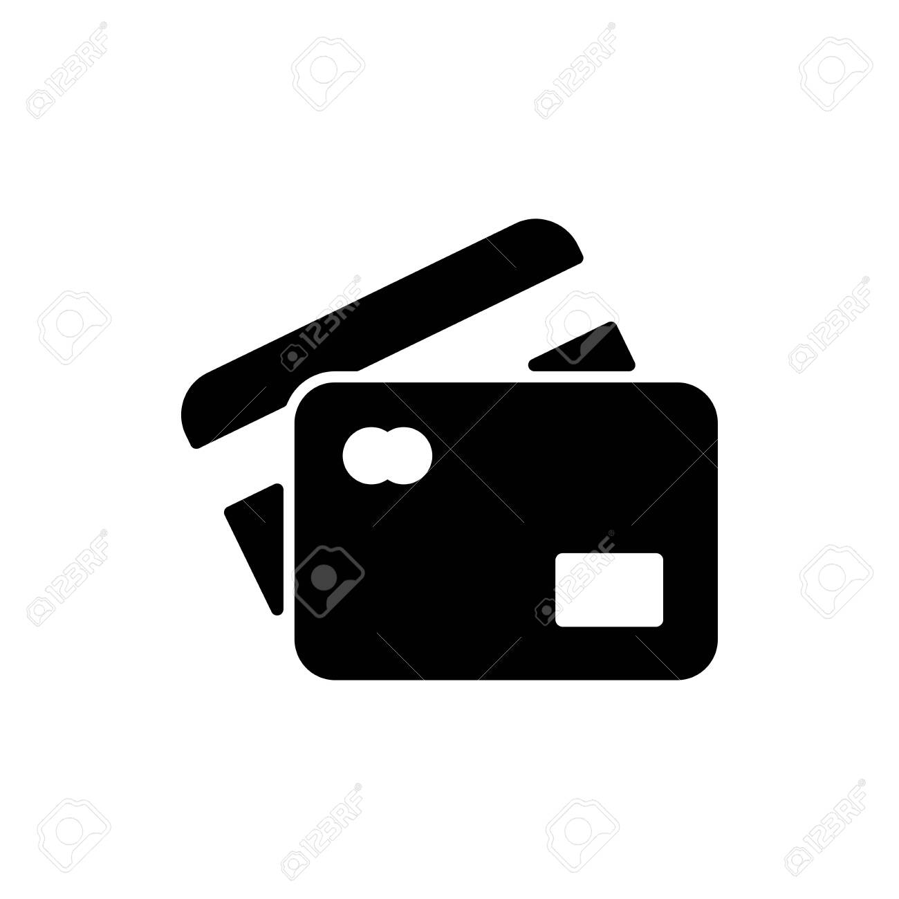 Credit card icon flat vector template design trendy - 147441347