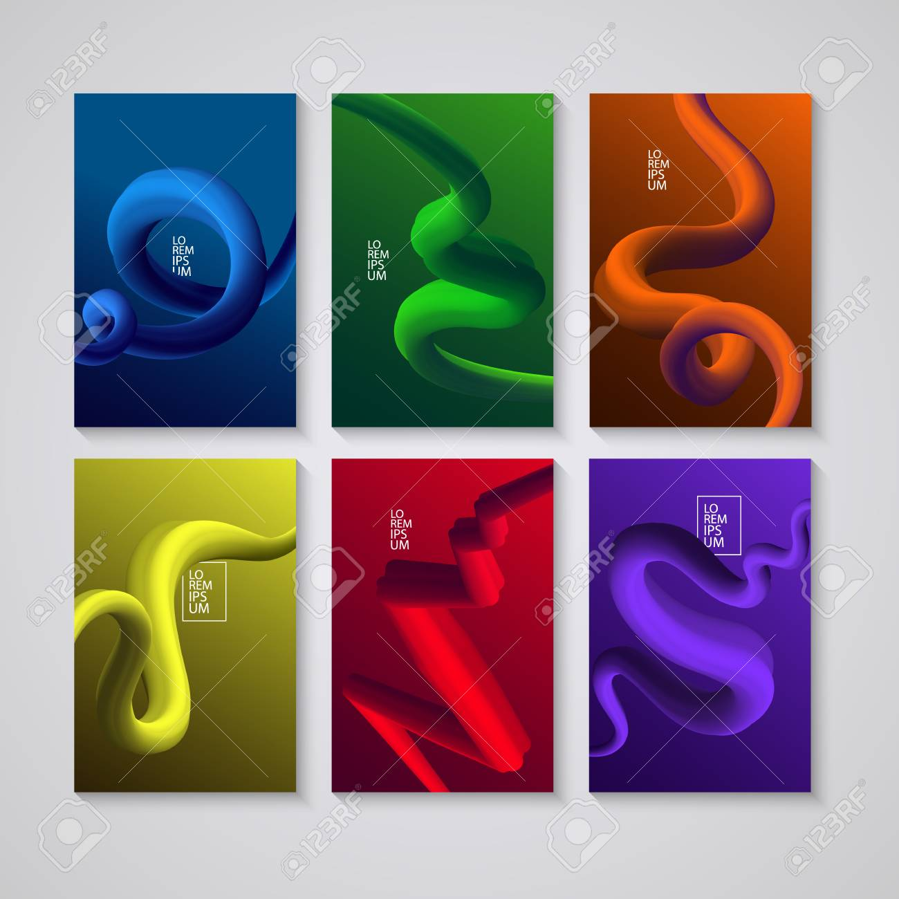 Cover design  Liquid colorful shapes backgrounds  Futuristic