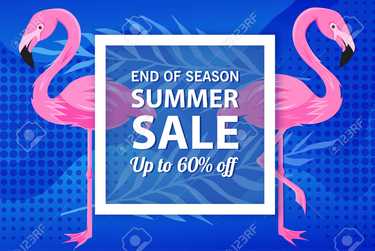 Summer sale banner template, Summer sale bright background for your advertisement, Vector illustration - 170162848