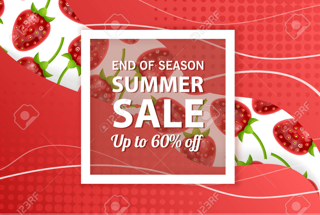 Summer sale banner template, Summer sale bright background for your advertisement, Vector illustration - 170162850