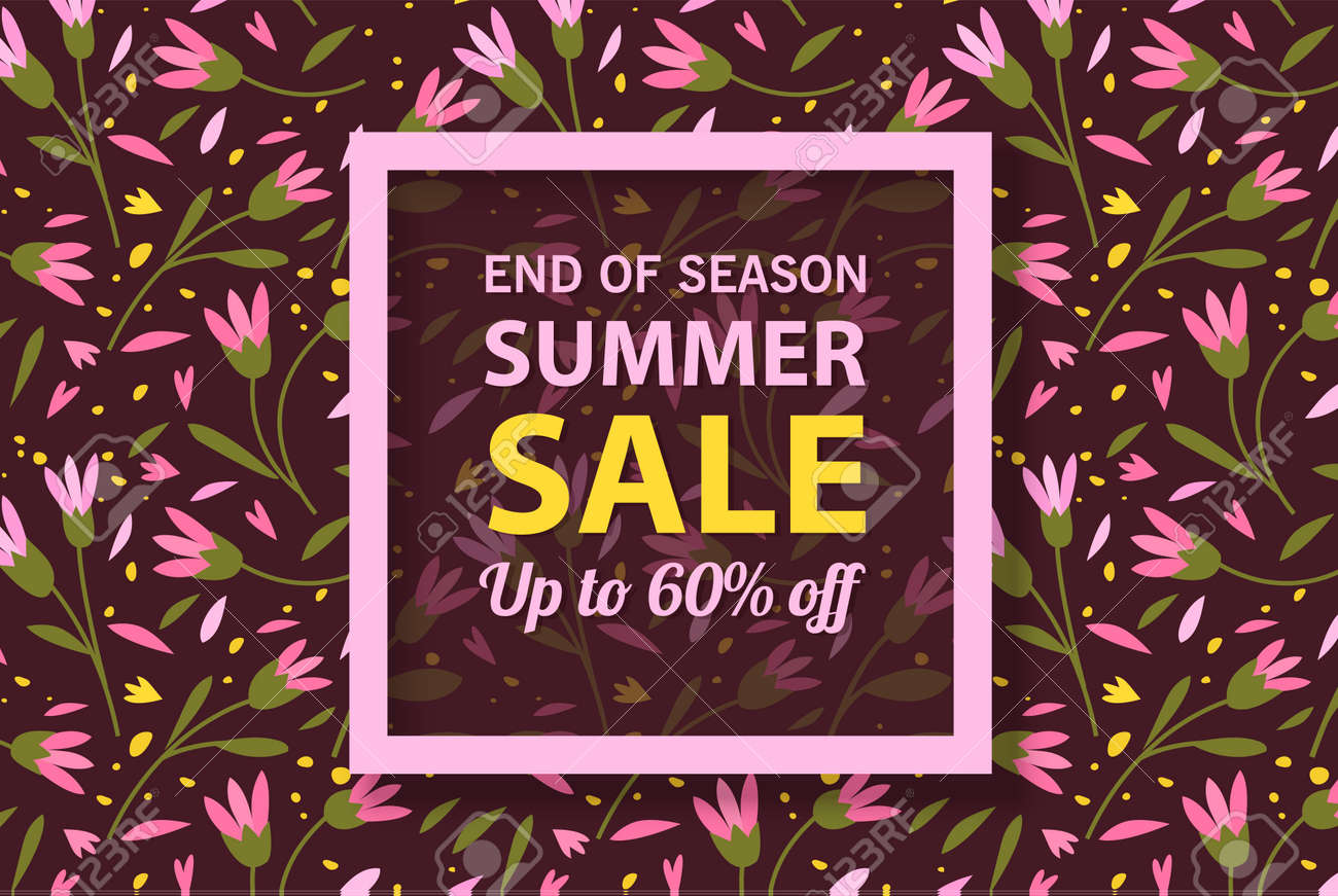 Summer sale banner template, Summer sale bright background for your advertisement, Vector illustration - 170162861