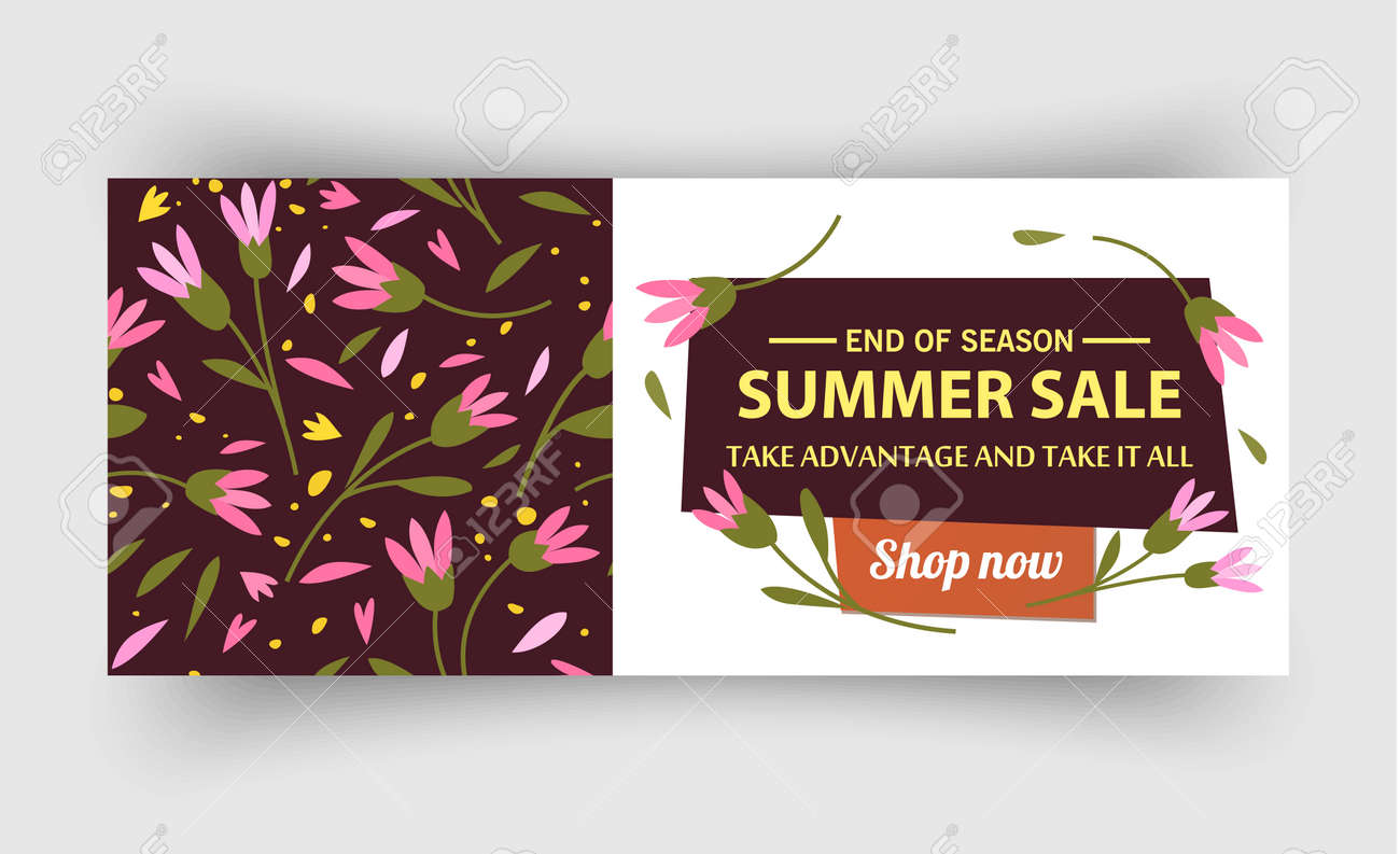 Summer sale banner template, Summer sale bright background for your advertisement, Vector illustration - 170162863