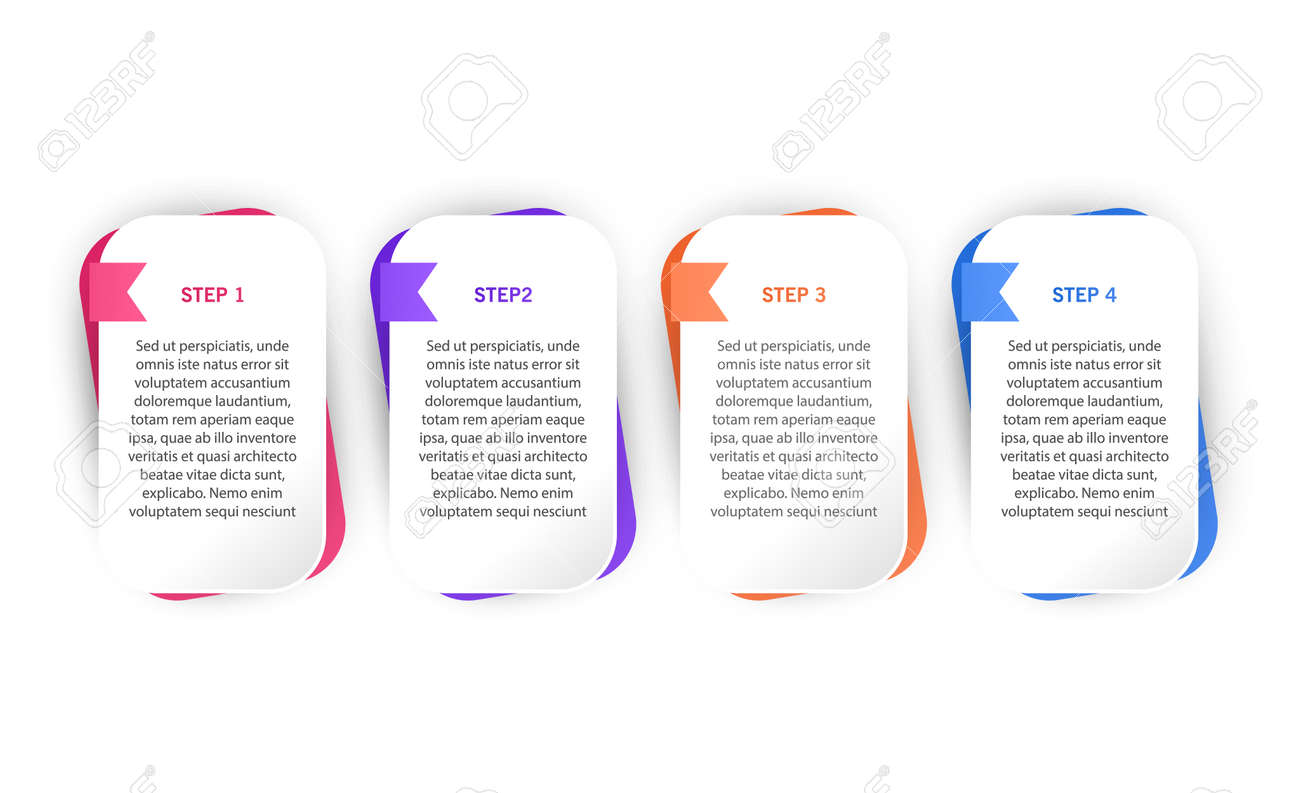 Infographic design template with icons and 4 options or steps. Can be used for process diagram, presentations, workflow layout or banner, Vector illustrations - 171657234