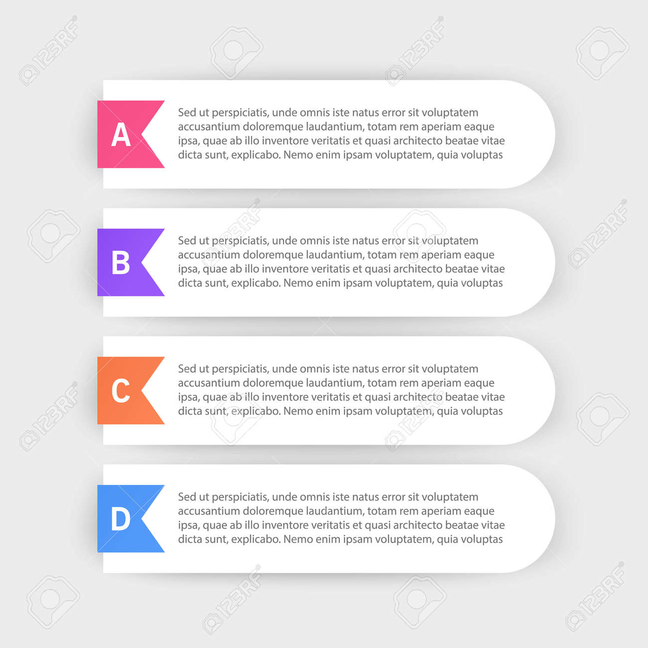 Infographic design template with icons and 4 options or steps. Can be used for process diagram, presentations, workflow layout or banner, Vector illustrations - 171657237