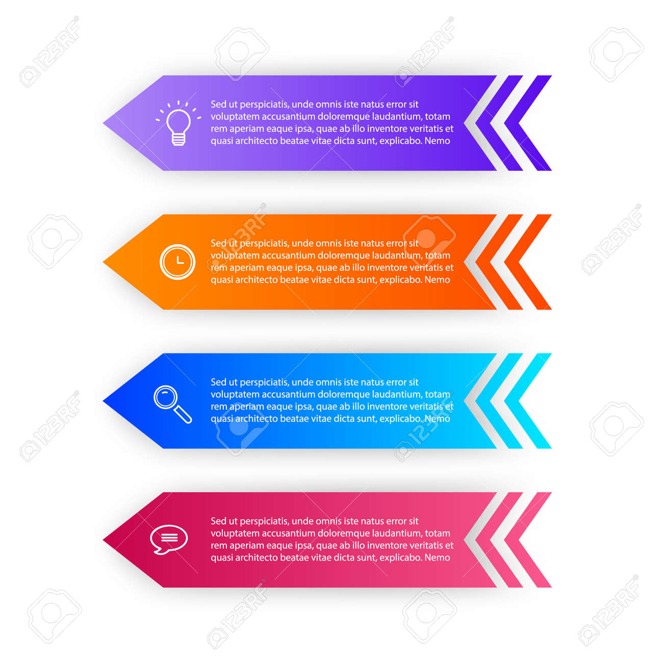 Infographic design template with icons and 4 options or steps. Can be used for process diagram, presentations, workflow layout or banner, Vector illustrations - 171657238