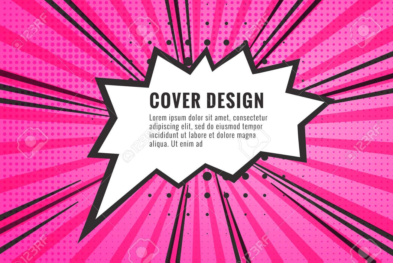 Retro comic empty speech bubble on colorful background, vintage design, pop art style - 171970973