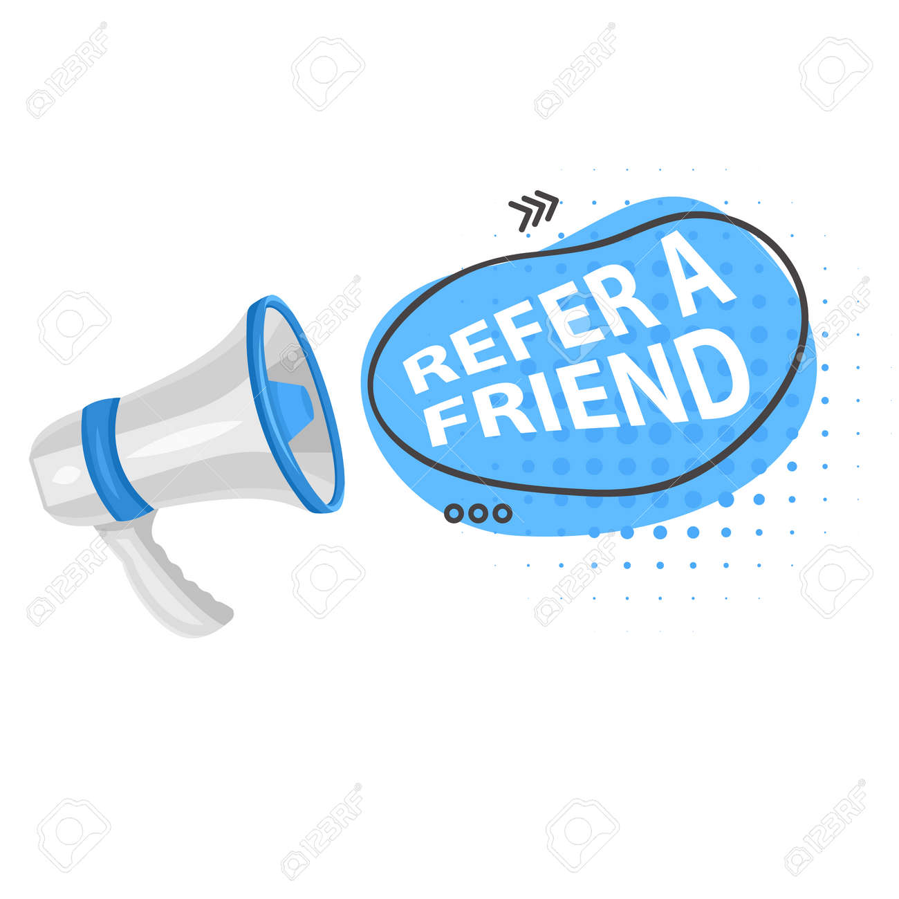Share media information refer friend loudspeaker isolated icon program or app network and media posts and information share suggestion or reference advice or referral emblem marketing - 173309081
