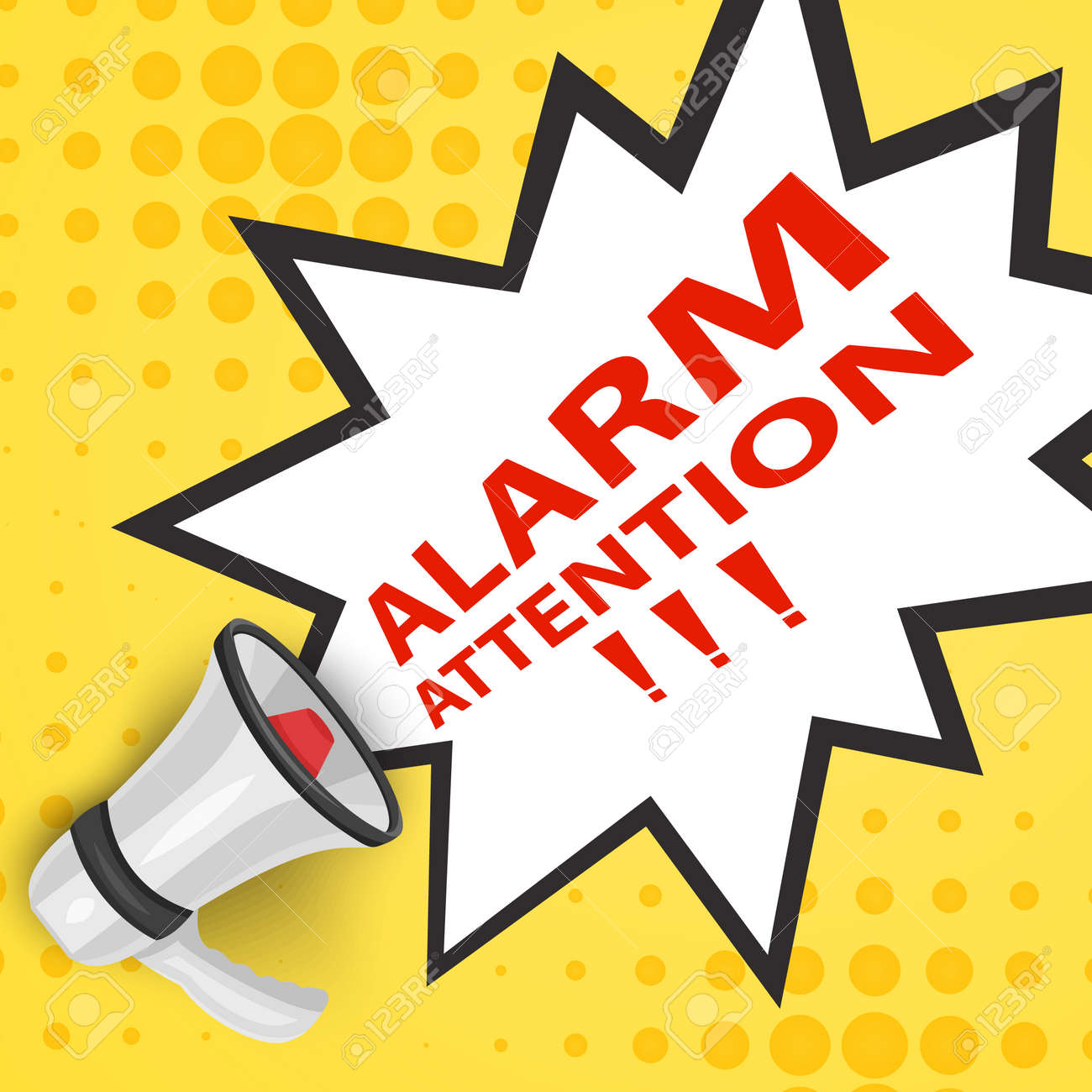 Attention please concept of important announcement. Vector illustration - 173919116