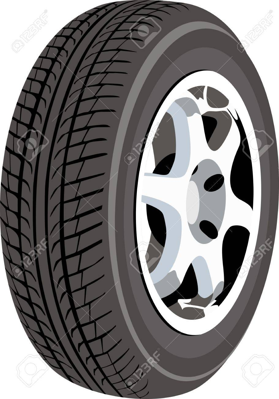 Wheel isolated on white - 14475982