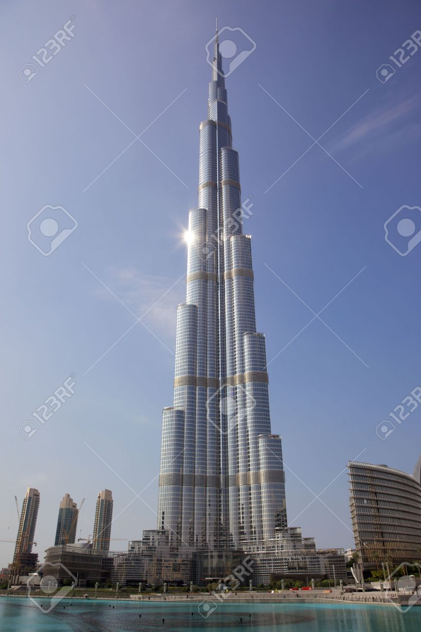 Burj Khalifa, the world's tallest building, situated in Dubai in the United Arab Emirates. Stock Photo - 8382798