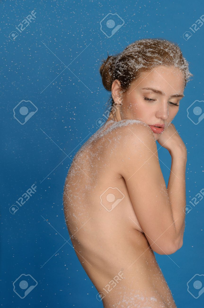 Naked woman in snow Stock Photo - 11597297